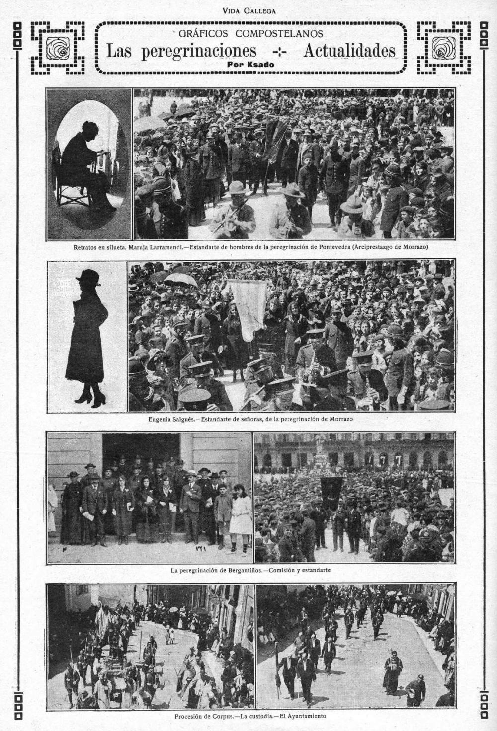 1920. Vida Gallega. PeregrinacionBergantiños