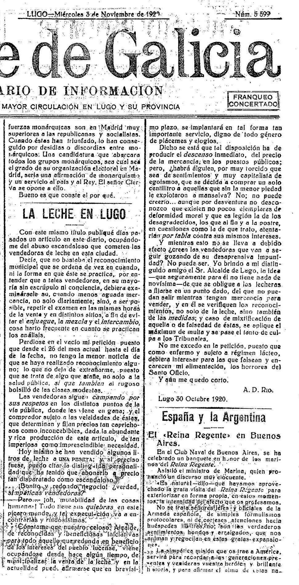1920.10.26 El norte de Galicia